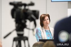 Пресс-конференция  губернатора Свердловской области Евгения Куйвашева в конгресс-центре по итогам «Иннопром 2019», прыткова юлия