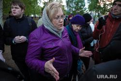 Восьмой день протестов против строительства храма Св. Екатерины в сквере около драмтеатра. (демонтаж забора) Екатеринбург, портрет, мерзлякова татьяна