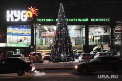 Новогодняя иллюминация. Челябинске, елка, иллюминация, новый год, приготовление к празднику