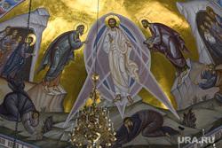 Отпевание Евгения Родыгина. Екатеринбург, храм на крови, церковь, убранство