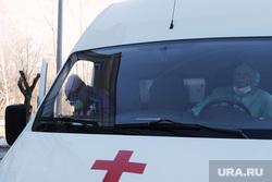 Приёмный покой в красной зоне городской больницы. Курган, защитный костюм, медики, фельдшер на вызове, скорая помощь, фельдшер, зона карантина, красная зона, городская больница 2