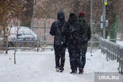 Виды города. Курган, снег, зима, подростки, зимние каникулы