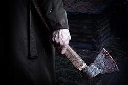 Клипарт депозитфото, кровь, топор, убийство, насилие, убийца, топор в руке, топор в крови, человек с топором, агрессия