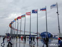 Сочи-2014. Зимняя олимпиада. 20.02.2014, флагшток, олимпийский парк, sochi 2014, флаги мира