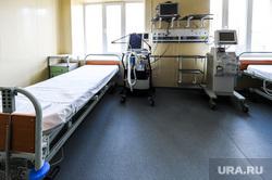 Поездка Алексея Текслера в областной центр онкологии и ядерной медицины. Челябинск, койки, палата, эпидемия, врачи, больница, медики, ивл, аппарат искусственной вентиляции легких, центр онкологии и ядерной медицины, алата