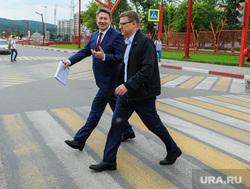 Поездка Алексея Текслера в Сатку. Челябинская область, пешеходный переход, глазков александр, текслер алексей
