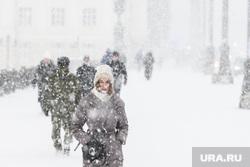 Виды Екатеринбурга, зима, снегопад, плотинка