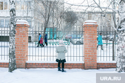 Школьники. Тюмень, снег, школьники, зима, дети, забор