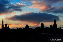 Зимняя Москва, силуэт, облако, город москва, ядерный взрыв, кремль, зарядье