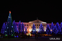Новогодняя площадь 2017. Курган, новый год, гирлянды, новогоднее оформление, елка на площади