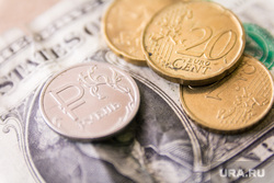 Клипарт. Магнитогорск, доллар, рубль, экономика, финансы, крупным планом, валюта, евроценты