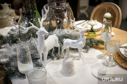Новогоднее оформление стола. Екатеринбург, сервировка, декор, оформление стола, рождество, новый год