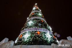 Новогодняя елка перед администрацией. Сургут, новый год, елка новогодняя, подсветка