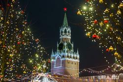 Предновогодняя Москва 2019. Москва, город москва, спасская башня, кремль, красная площадь, огоньки, иллюминация