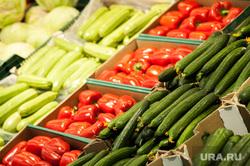 Открытие супермаркета «Перекресток». Екатеринбург, овощи, помидоры, огурцы, кабачок
