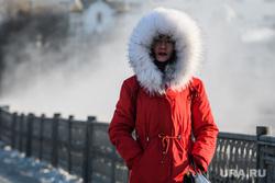 Виды Екатеринбурга, зима, теплая одежда, пуховик, холод, холодная погода, зимняя куртка