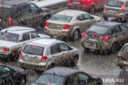 Визит Куйвашева на УЗТМ. Екатеринбург, снег, пробка, дорога, автомобили