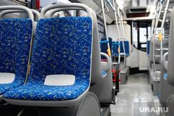 Передача новых автобусов, полученных Екатеринбургом в лизинг в рамках федеральной программы «Безопасные и качественные дороги». Екатеринбург, автобус, общественный транспорт, салон автобуса, городской транспорт, пассажирское место