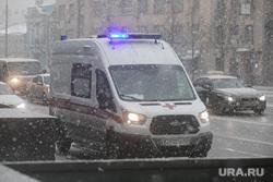 Зима. Москва, зима, пурга, неотложка, скорая помощь, вьюга, улица, машина, скорая