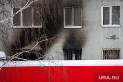 Последствия пожара в девятиэтажном жилом доме на улице Рассветная. Екатеринбург, последствия пожара, улица рассветная