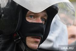 Задержания участников митинга против пенсионной реформы в Екатеринбурге, маска, взгляд, глаза, полиция, охрана правопорядка