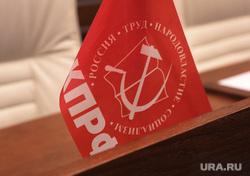 Пленарное заседание Законодательного собрания Пермского края, флаг кпрф, флаги партий