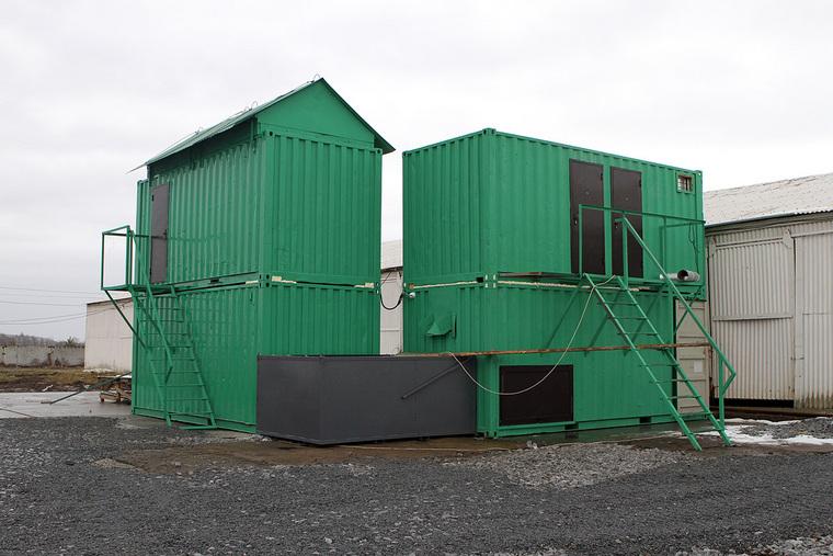 База хранения радиоактивного песка УралМонацит на станции Зюрзя под Красноуфимском и перегрузка для отправки в Китай