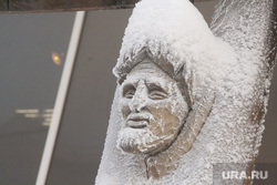 Мороз и ледяной туман. Салехард. 31 января 2019 г, зима, иней, мороз