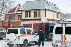 Пожар в поселке Боровский. Тюмень, мчс, частный дом, полиция, полицейский
