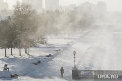 Морозы в Екатеринбурге, исторический сквер, зима, плотинка, мороз