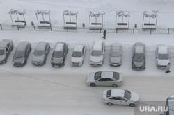 Мороз, зима. Челябинск, автомобили, снег, холод, зима, погода, автотранспорт, парковка, климат, мороз, туман, метеоусловия