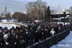 Несанкционированный митинг в поддержку оппозиционера. Екатеринбург, протестующие, шествие, город екатеринбург, несанкционированная акция, толпа людей