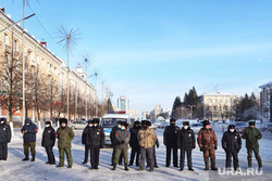 Несанкционированный митинг в поддержку Алексея Навального. Курган