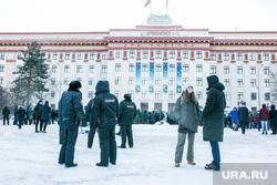 Несанкционированный митинг в поддержку Алексея Навального. Тюмень