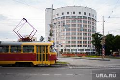 Виды Екатеринбурга, гостиница исеть, трамвай