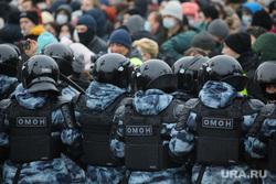 Митинг в поддержку Навального на Пушкинской площади. Москва, силовики, дубинка, митинг, демонстрация, омон, омоновцы