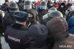 Несанкционированный митинг на площади Народных гуляний. Магнитогорск, навальный, митинг, полицейский, протестующий, задержание, омоновцы