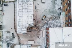 Снос здания ПРОМЭКТ. Екатеринбург, строительная площадка, снос, здание промэкт, разрушение дома