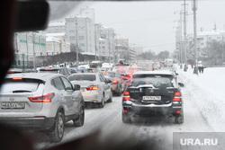 Уборка снега. Екатеринбург, пробка, снег на дороге, нечищенная дорога