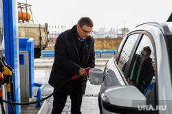 Поездка Алексея Текслера по отремонтированным дорогам. Челябинск, газпромнефть, автозаправка, азс, текслер алексей