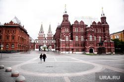 Москва во время объявленного режима самоизоляции. Москва, государственный исторический музей, манежная площадь, гим, москва