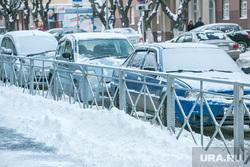 Виды города, зима. Тюмень, машины, автомобили