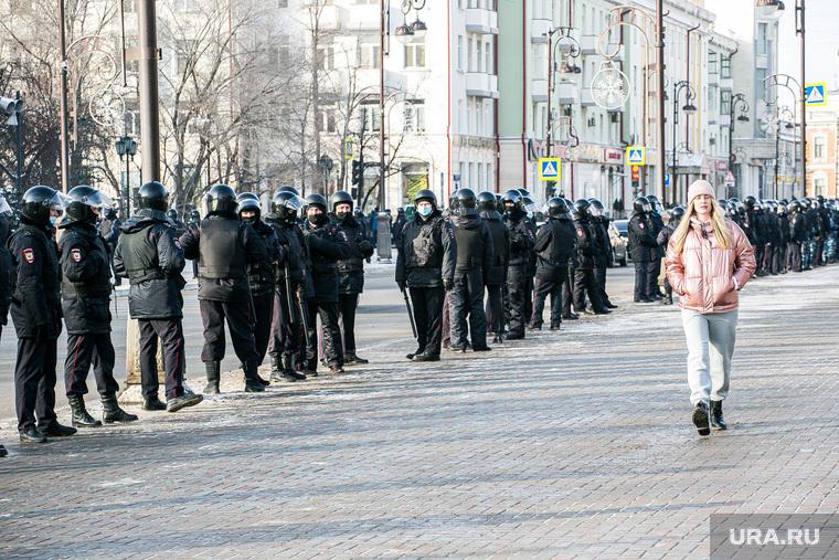 Несанкционированная акция в поддержку Алексея Навального. Тюмень