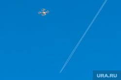 Учения МЧС по тушению лесных пожаров и сельскохозяйственных палов. Челябинск, небо, квадрокоптер, дрон, небеса, дальняя родня, самолет в небе, инверсионный след, летательный аппарат