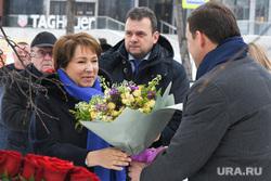 Возложение цветов к стеле у Ельцин Центра. Екатеринбург, юмашева татьяна