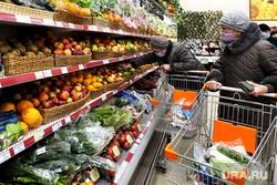 Торговый центр. Курган, покупатели, продуктовая корзина, магазин, овощи фрукты