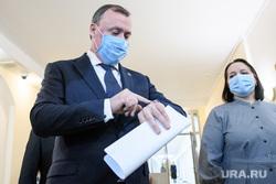 Орлов и другие кандидаты в мэрии на собеседовании на должность главы Екатеринбурга. Екатеринбург