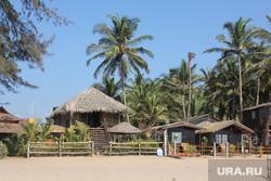 Клипарт. Индия. Гоа, туризм, пляж, курорт, пальмы, отдых