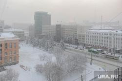 Мороз, зима. Челябинск, снег, холод, зима, погода, смог, проспект ленина, климат, мороз, туман, метеоусловия
