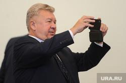 Совещание по онкологии с Цукановым и Текслером. Челябинск, важенин андрей, снимает на телефон